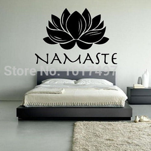 Lotus Namaste Vinyl Wall Decal Stickers