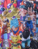 Saiyajin goku instinto dragon ball super batalla final playera t-shirt full subli details detalles