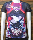 Saiyajin goku instinto dragon ball super batalla final playera t-shirt full subli frente