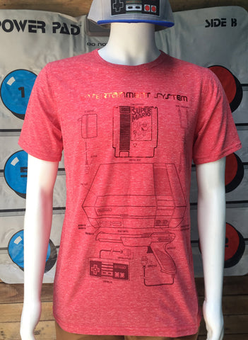 T-SHIRT ENTERTAINMENT SYSTEM RED