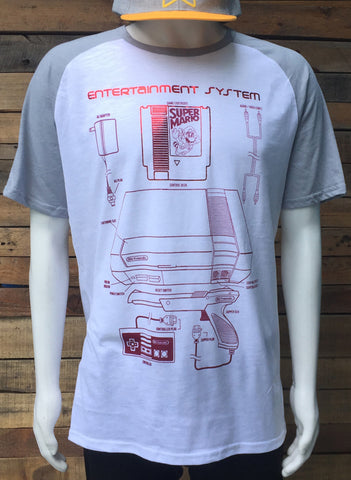 T-SHIRT ENTERTAINMENT SYSTEM BEISBOLERA