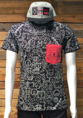 T-SHIRT DIRTY BITS POCKET ROJO