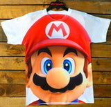 kids niño full subli peach princesa mario bros kart nintendo videogames t-shirt spring playera gamewear game fullsubli dirtyendo details colors classiccollection