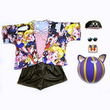 mood kimono sailor collage serenity luna moon serena artemis tela suave y fresca cat kitty kawaii summer verano cute trendy