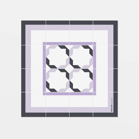 Hidraulik square vinyl coasters tile pattern Diagonal design