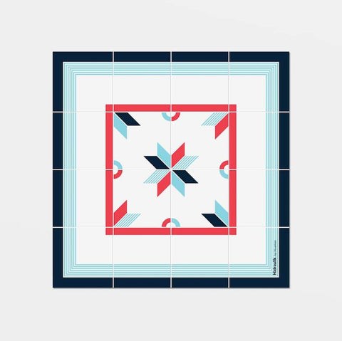 Hidraulik square vinyl coasters tile pattern Gloria design