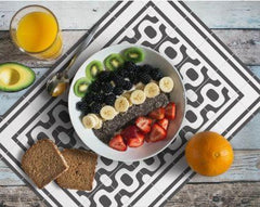 Hidraulik Ipanema washable vinyl rectangular placemat