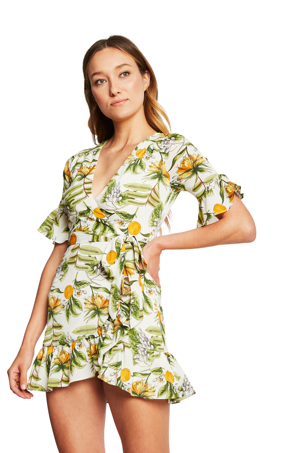 Lost + Wander Limonada Wrap Dress