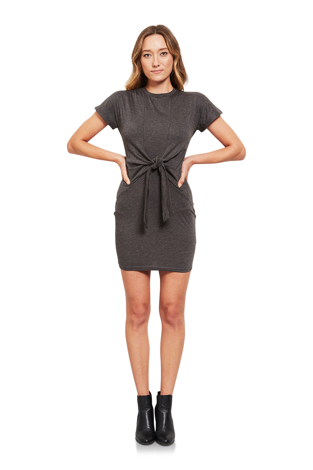 About Us Sydney Tie Front Dress