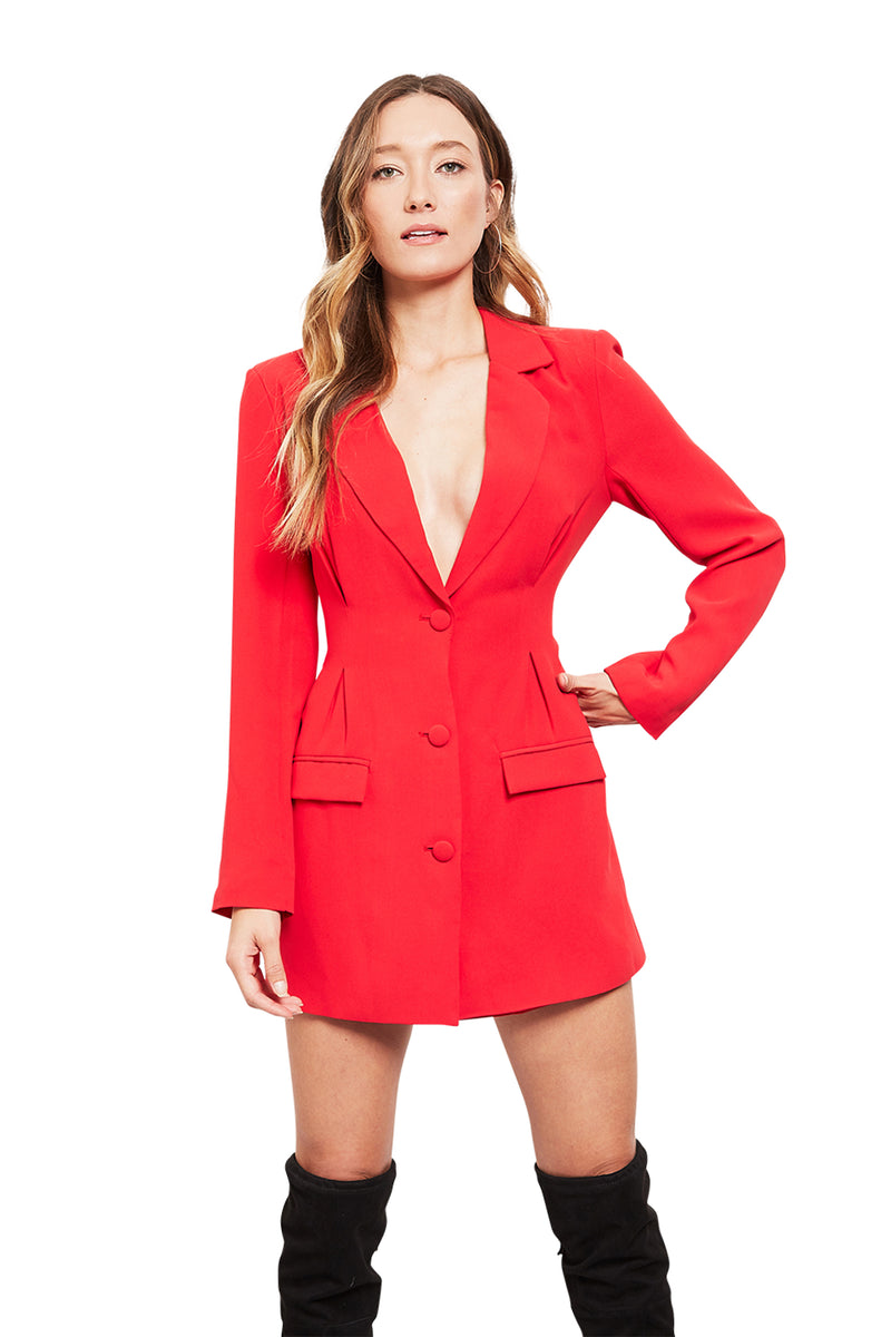 H:ours Amanda Blazer Mini Dress
