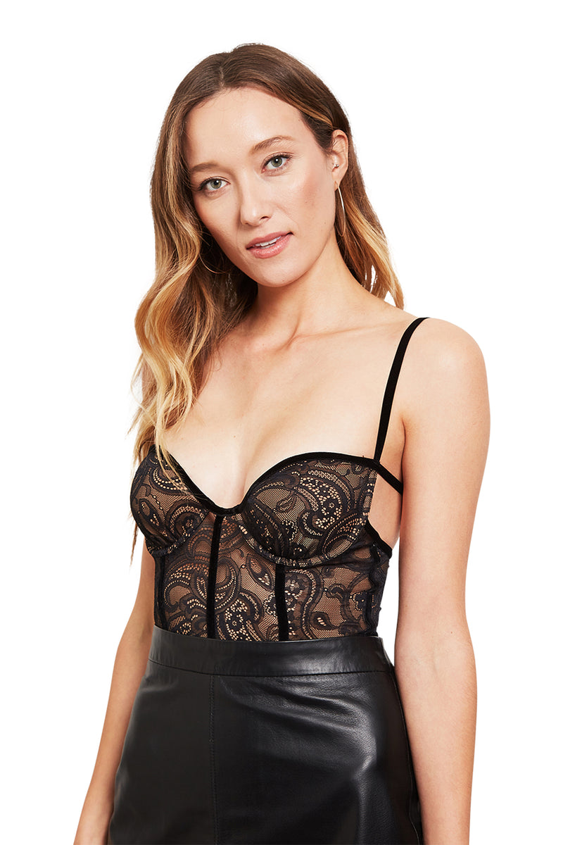 For Love and Lemons Belle Corset Bodysuit