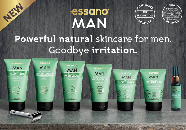 essano MAN natural skincare products