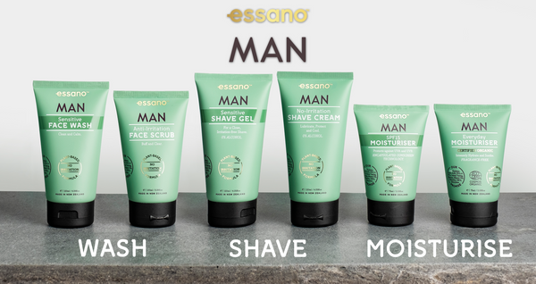 essano MAN skincare and shave range
