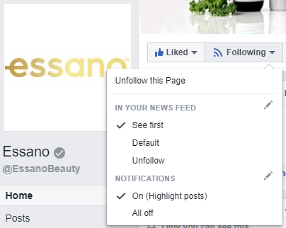 Follow us on Facebook at EssanoBeauty!