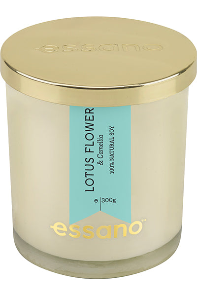 essano Lotus Flower & Camellia natural soy Candle