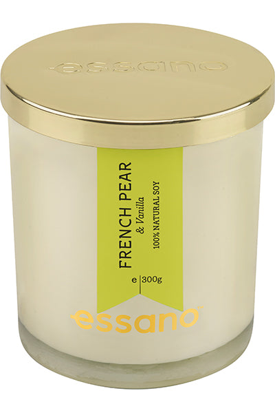 essano French Pear & Vanilla natural soy Candle