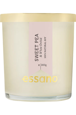 essano Sweet Pea & White Orchid natural soy Candle