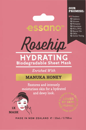 Rosehip Hydrating Biodegradable Sheet Mask