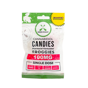 Green Roads SOUR Froggies Gummies (100mg CBD)