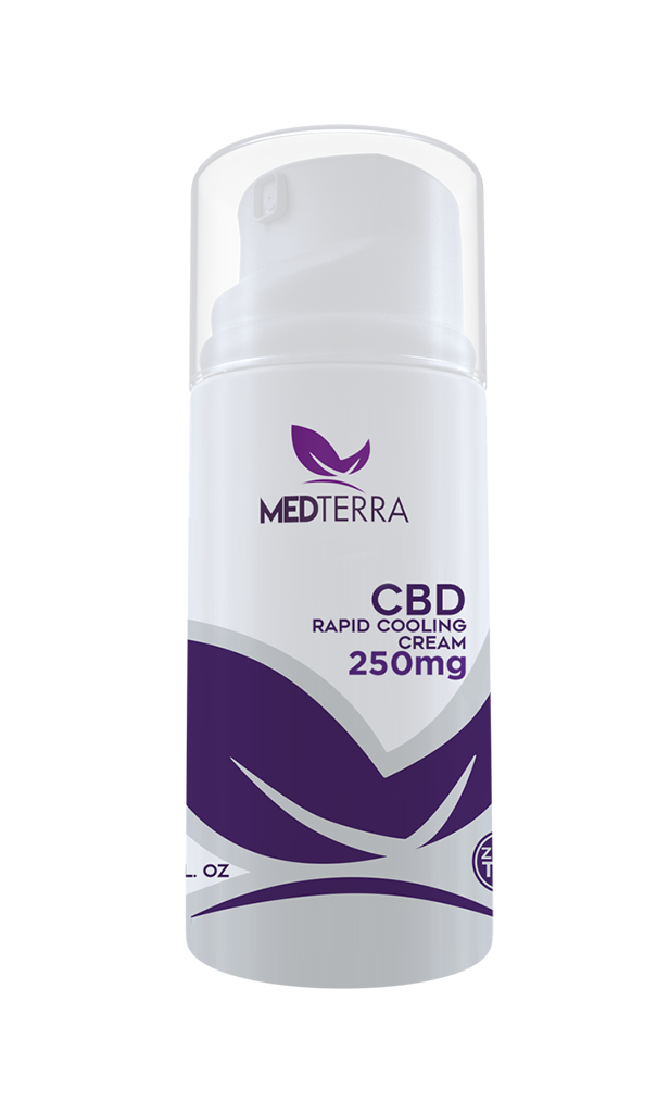 CBD 250mg Medterra Rapid Cooling Pain Cream AceApe CBD Dispensary