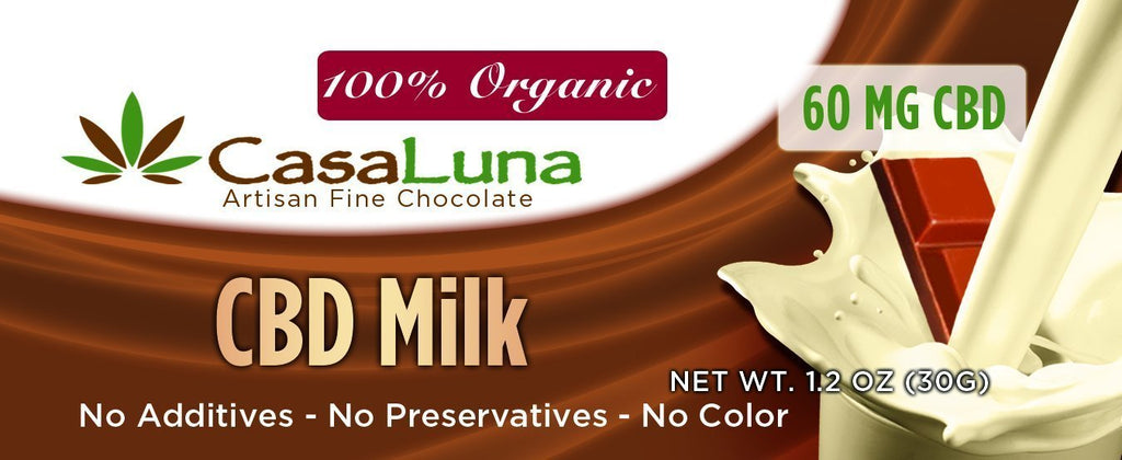 CBD Casa Luna Milk Chocolate Bar AceApe CBD Dispensary