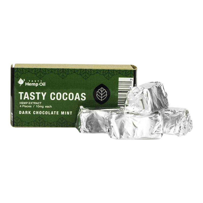 CBD Tasty Hemp Cocoas - Mint Dark Chocolate