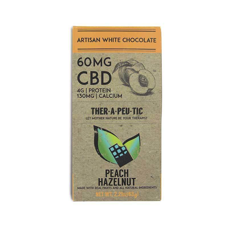 CBD Therapeutic Peach Hazelnut Chocolate CBD Bar