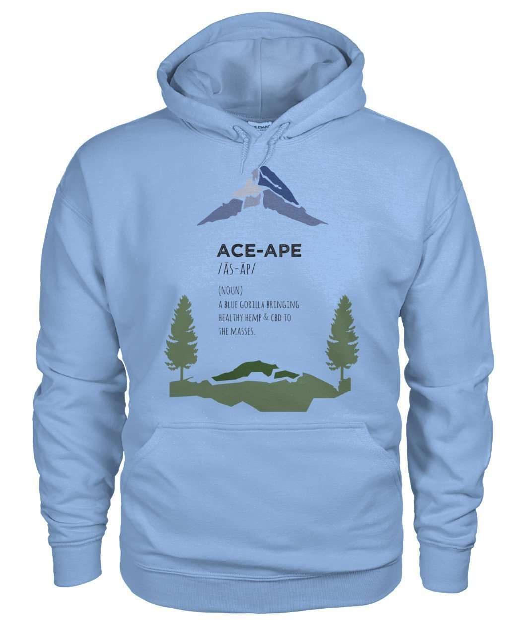 "Hoodies Light Blue / S Define ""AceApe"" Gildan Hoodie"
