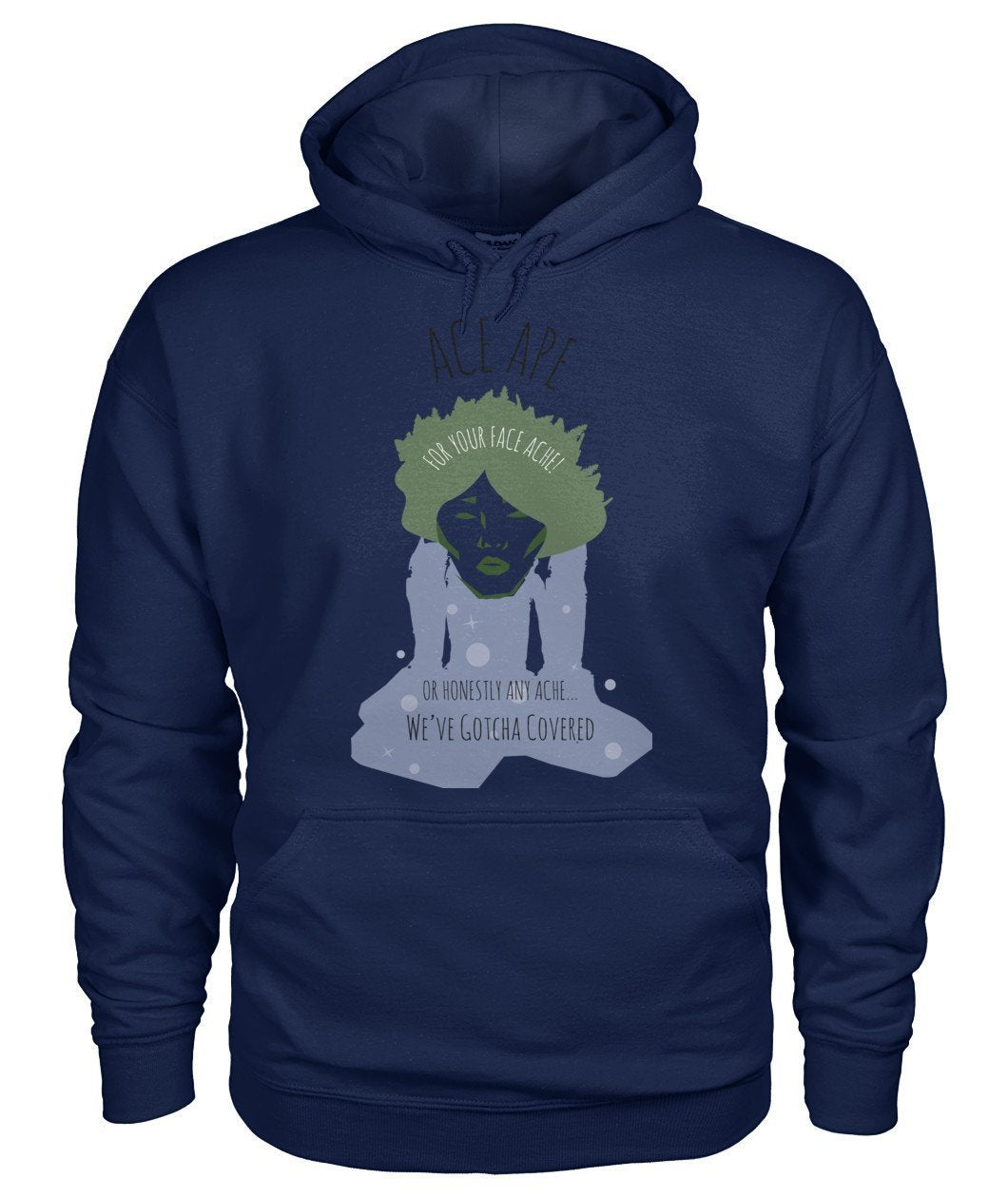 Hoodies Navy / S Face Ache Hoodie AceApe CBD Dispensary