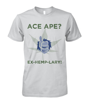 Short Sleeves Ash Grey / S Thumbs Up Unisex Cotton Tee AceApe CBD Dispensary