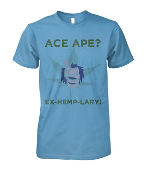 Short Sleeves Carolina Blue / S Thumbs Up Unisex Cotton Tee AceApe CBD Dispensary