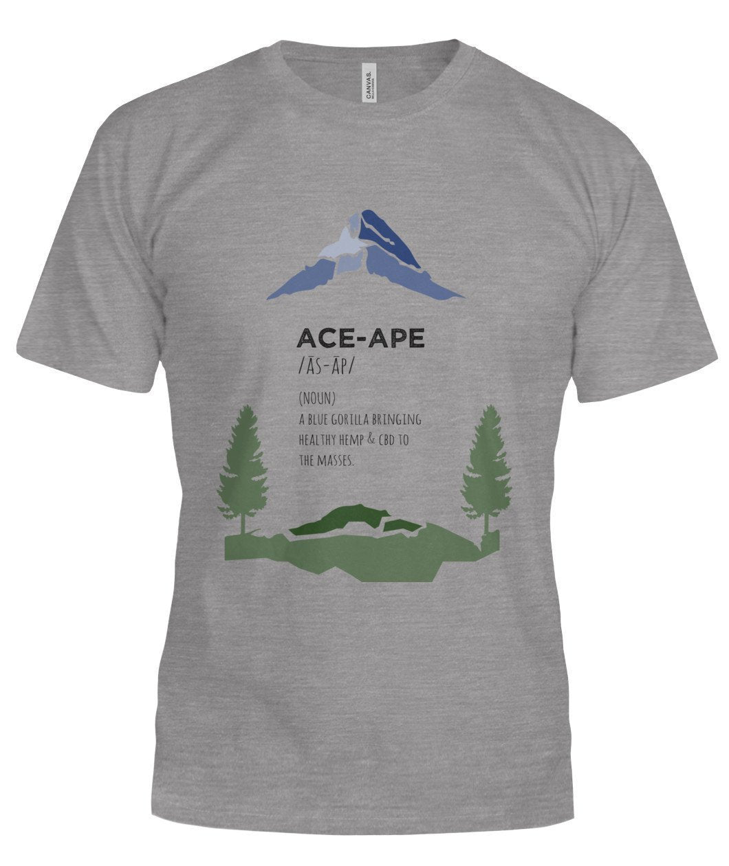 "Short Sleeves Deep Heather / S Define ""AceApe"" Unisex Tee (Semi-Fit) AceApe CBD Dispensary"