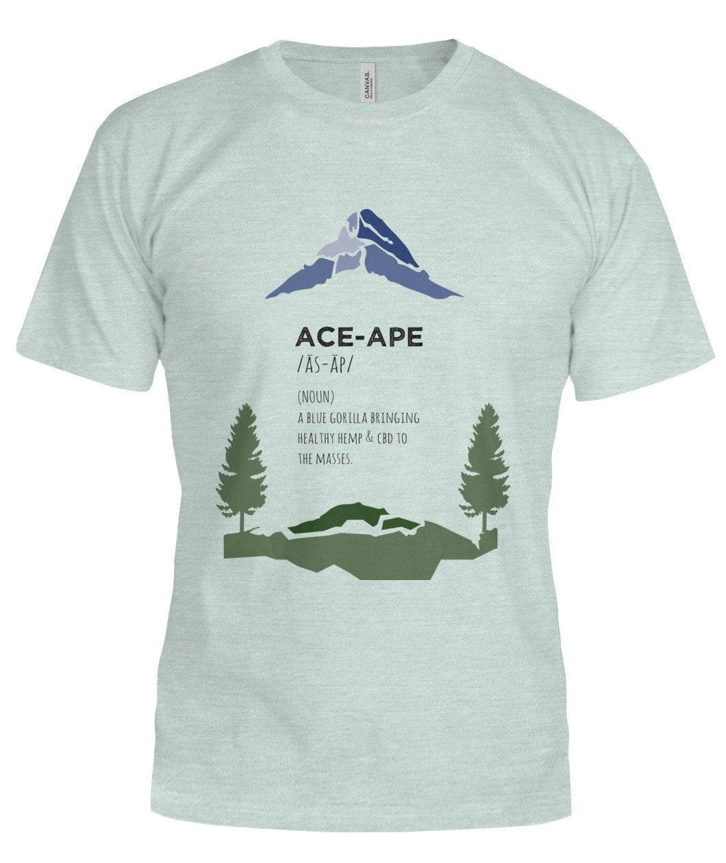 "Short Sleeves Heather Mint / S Define ""AceApe"" Unisex Tee (Semi-Fit) AceApe CBD Dispensary"