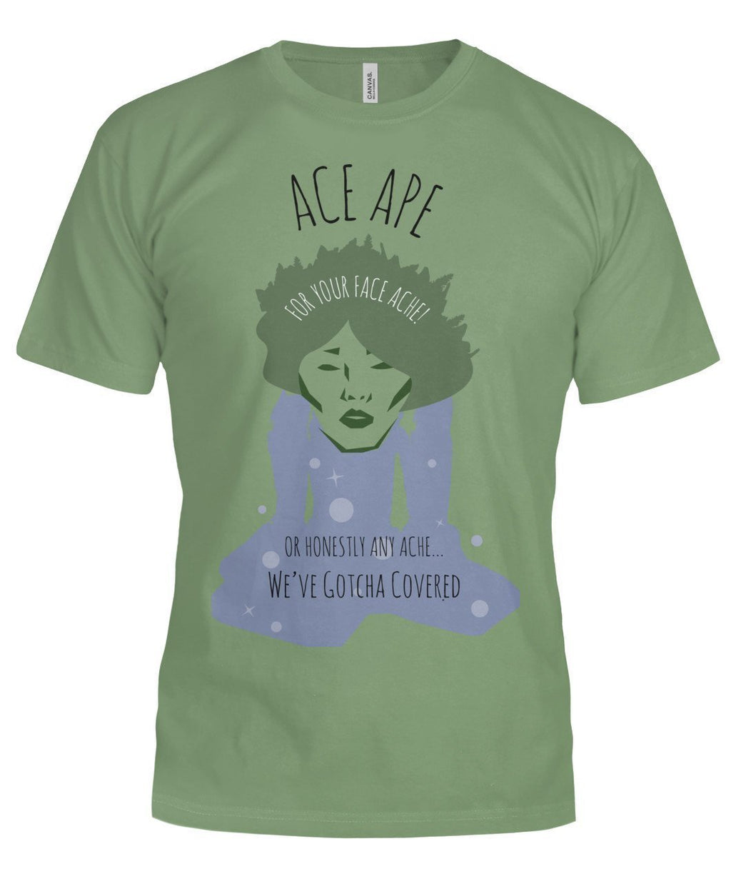 Short Sleeves Leaf / S Face Ache Unisex Tee (Semi-Fitted) AceApe CBD Dispensary