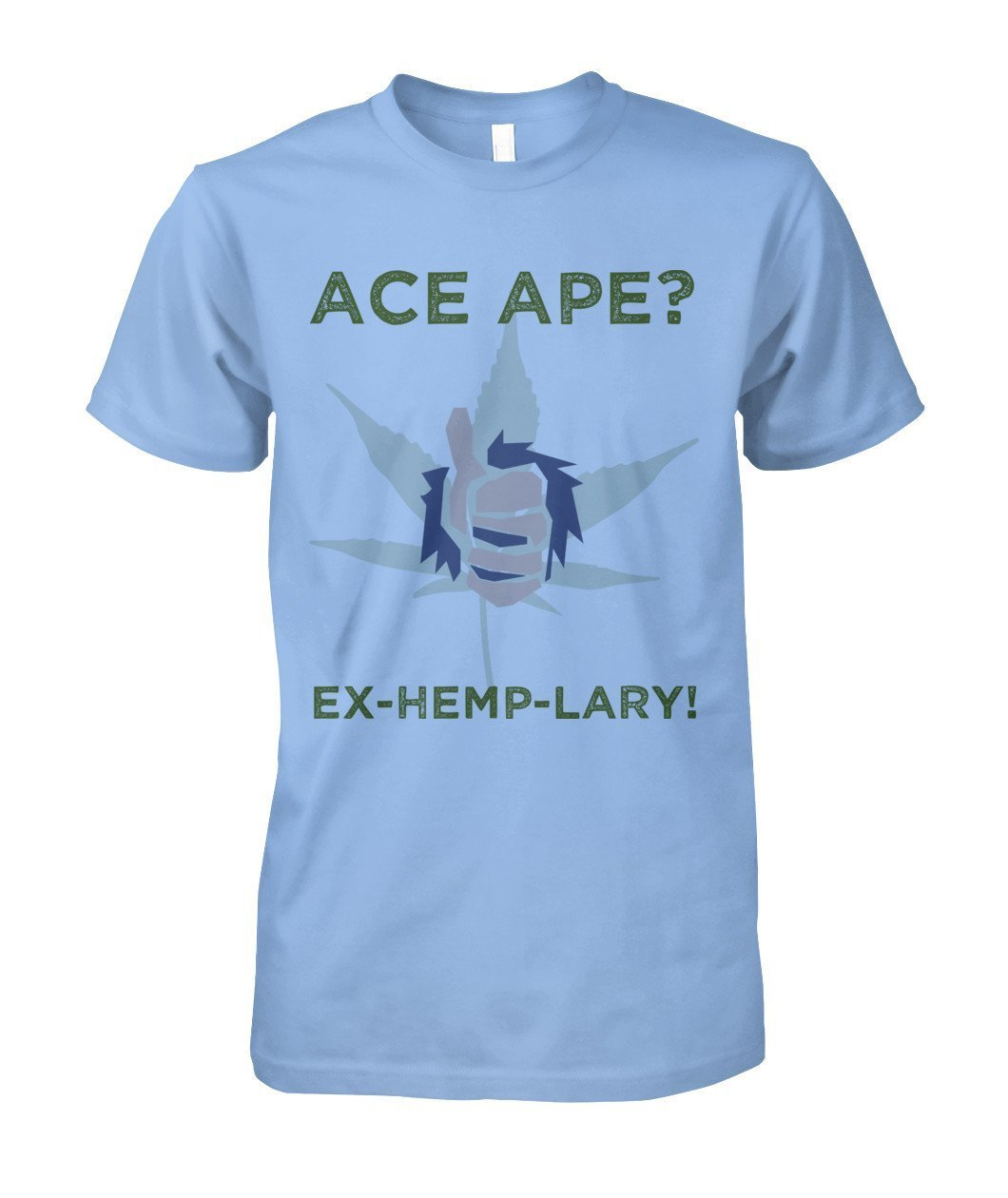Short Sleeves Light Blue / S Thumbs Up Unisex Cotton Tee AceApe CBD Dispensary