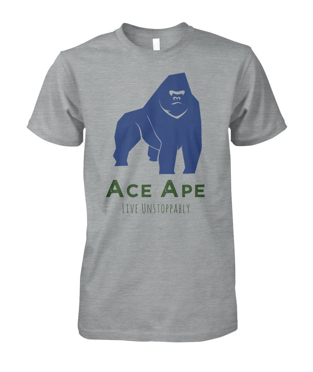 Short Sleeves Sport Grey / S Stressed Out Unisex Cotton Tee AceApe CBD Dispensary