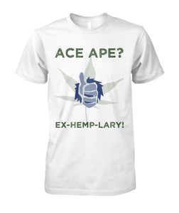Short Sleeves White / S Thumbs Up Unisex Cotton Tee AceApe CBD Dispensary
