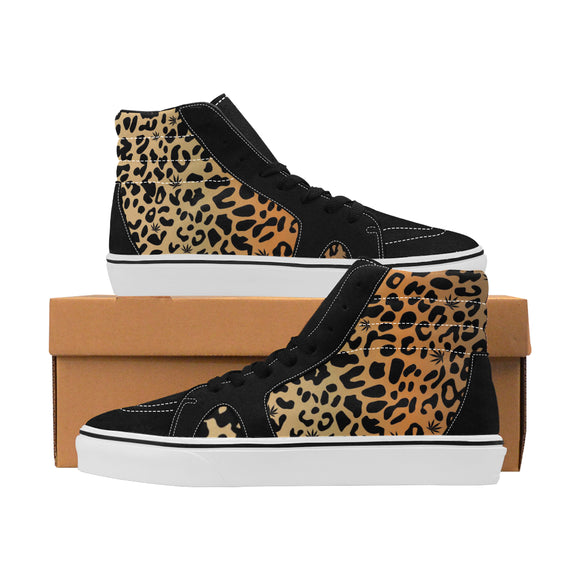 Women's High Top Skateboarding Shoes (E001-1)- 420 Cheetah