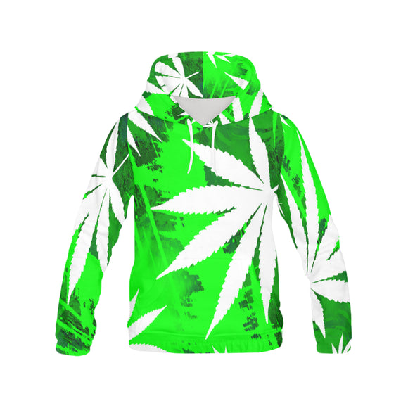 White Widow - Pull Over Full Print Hoodie for Women