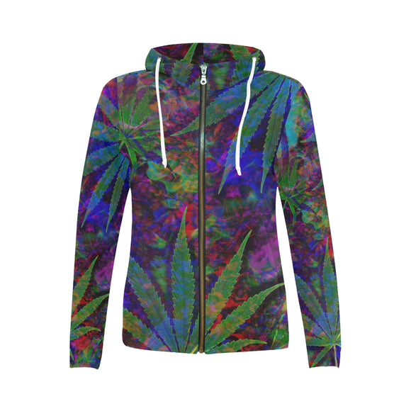 Sour Diesel Zip Hoodie for Women