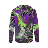 Purple Bubblegum All Over Print Full Zip Hoodie for Women