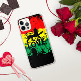 Rasta Paint Splat -LOVE  - iPhone Case