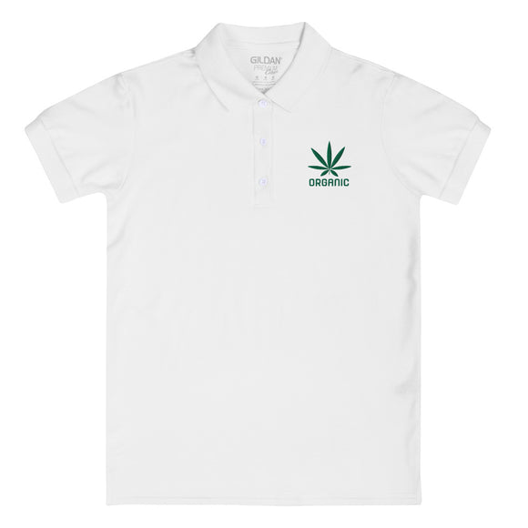 Organic - Embroidered Women's Polo Shirt