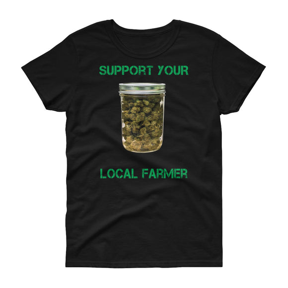 Support Your Local Farmer - Women's short sleeve graphic t-shirt