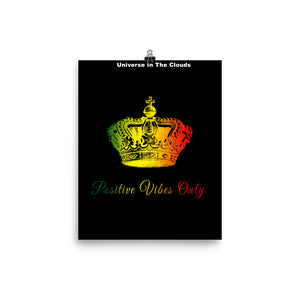 Rasta Positive Vibes Only -Photo paper poster