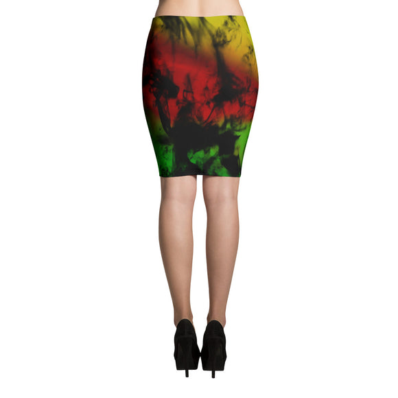 Rasta Smoke Pencil Skirt