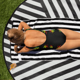 Rasta weed Leaf One-Piece Swimsuit