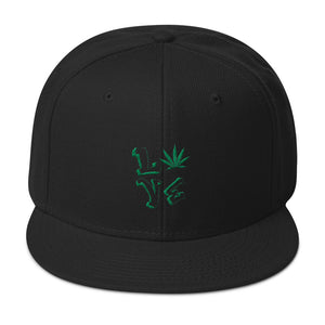 Cannabis Love Snapback by Universe In The Clouds