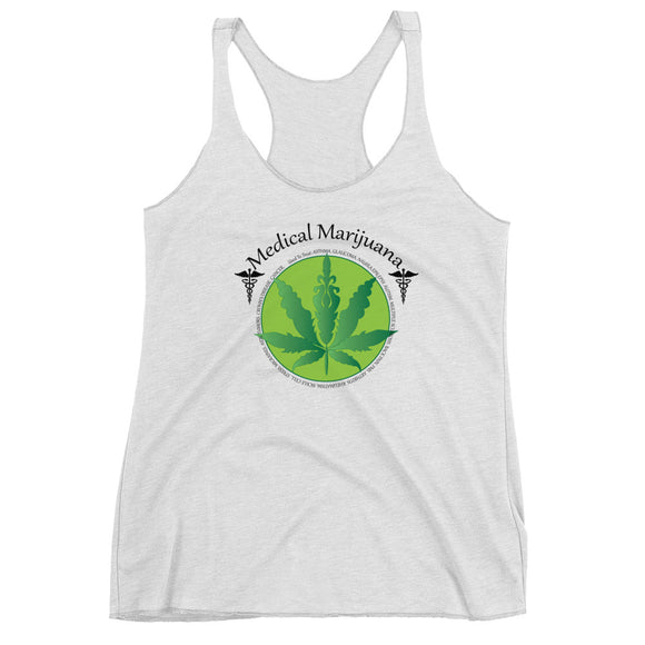 Medical Marijuana Women's Racerback Tank