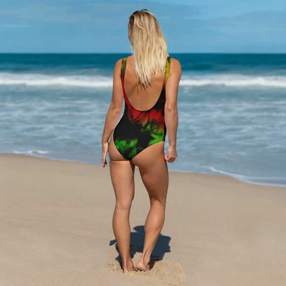 Rasta Smoke One-Piece Swimsuit